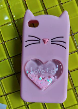 Акція Защитное Скло в подарок , Чехол iPhone 4 4s силикон, ушки