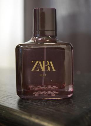Духи zara nuit 80 ml, оригинал испания