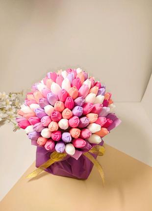 Букет из тюльпанов (101 тюльпан)