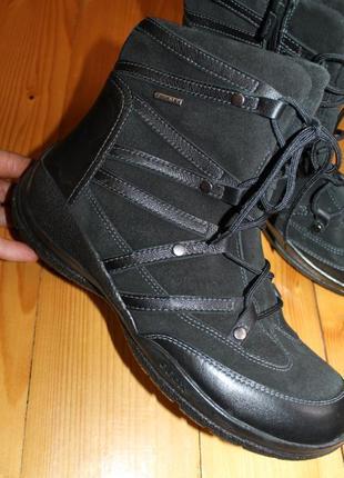 40 разм. ботинки термо geox - tex. кожа и замша