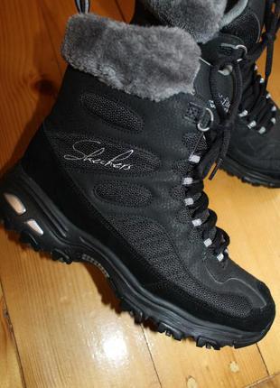 38 на 39 разм. ботинки skechers. замша. очень легкие