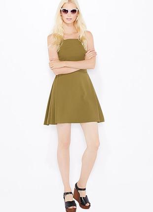 Сарафан цвета хаки с квадратным декольте topshop платье скейте...