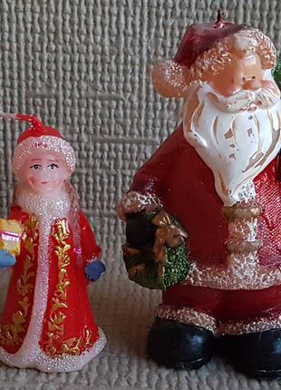 Свечи фигурные, Дед Мороз и Снегурочка