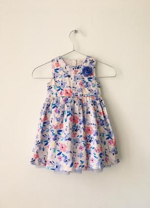 #розвантажуюсь новое хлопковое платье с нежным цветочным принт...