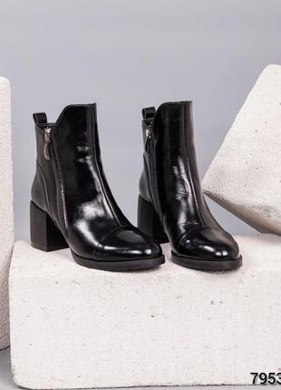 Кожаные зимние ботильоны натуральная кожа женские ботинки на к...
