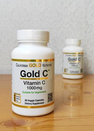 Витамин С, Gold C, 1000 мг, California Gold Nutrition, 60 капсул