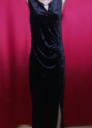 Платье вечернее из велюра