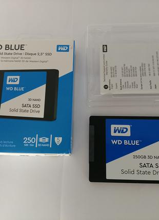 Новый SSD WD Blue на 250Gb, SATA