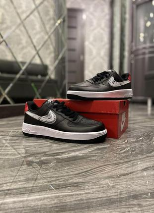 Nike air force 1 low black silver