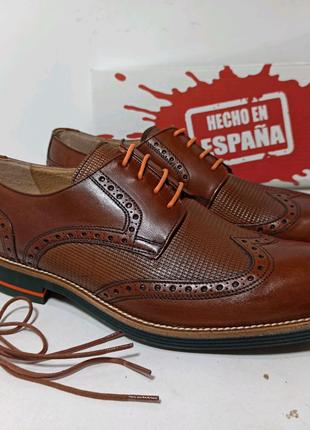 Мужские кожаные туфли оксфорды. Испания 41р в наличии