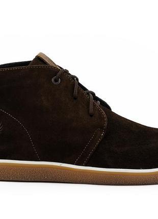 Мужские ботинки замшевые весна/осень коричневые