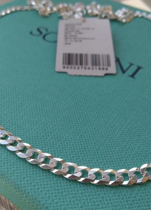 Серебряная цепочка цепь плетение гурмет картье панцирное 55 см...