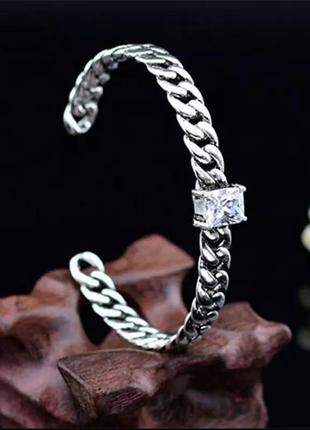 🌟🌺⭐️стильнейший серебряный браслет