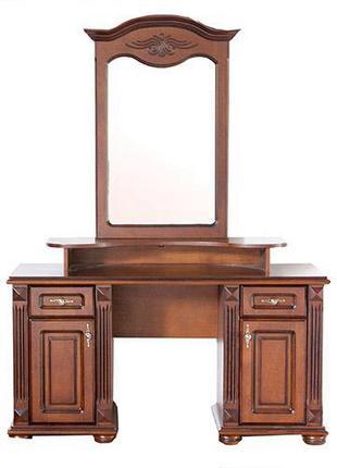 Классический туалетный столик Элизабет с зеркалом из массива дуба