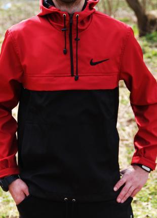 Анорак Nike черно-красный