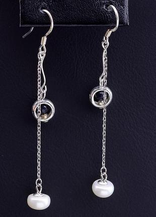Серьги 'sunstones' жемчуг серебро(925) 0790510