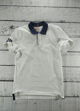 Поло мужское футболка белая с воротником Blend Collection