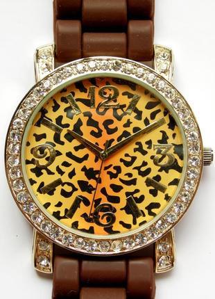 Geneva часы из сша леопардовый циферблат wr мех.japan sii