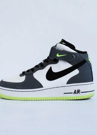 Кроссовки кожаные Nike Air Force 180 Mid Black Phoenix