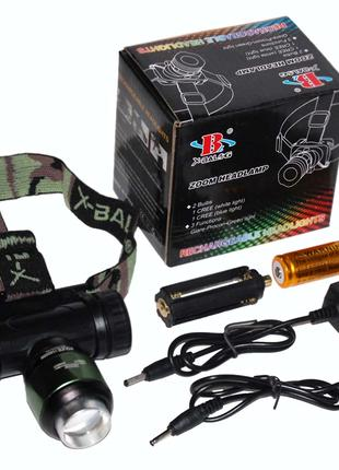 Налобный фонарик Bailong Police BL- 6953-T6 (акк.+ батар.)