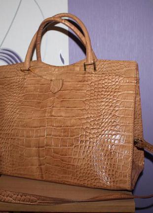 Итальянская кожаная сумка портфель popcorn milano