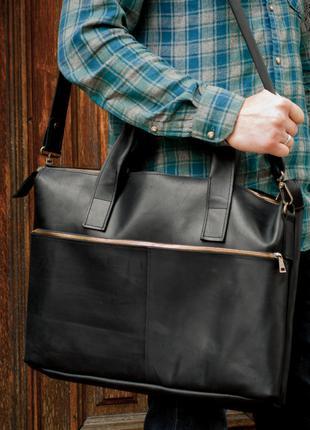 Деловая кожаная  сумка. Повседневная сумка