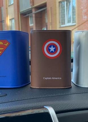 Копилка Бэтмен, капитан Америка, супермармен