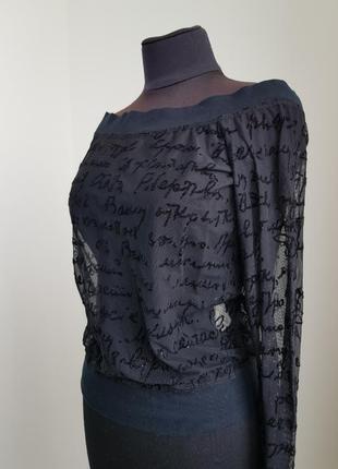 Кофточка черная прозрачная alba moda