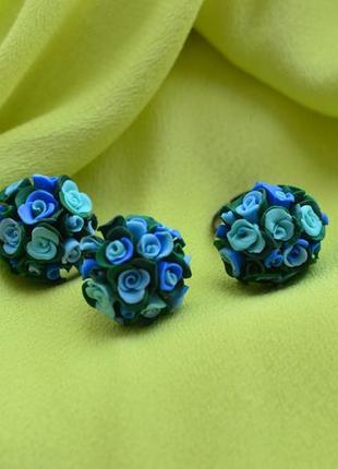 Сережки и кольцо из полимерной глины