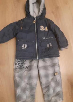Зимний костюм куртка и комбинезон wojcik р 86-92см