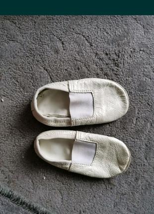 Детские кожаные чешки 22 размер