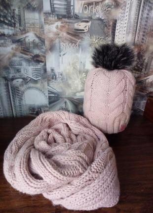 Шапка+шарф хомут