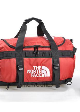 Сумка-рюкзак the north face, цвет красный