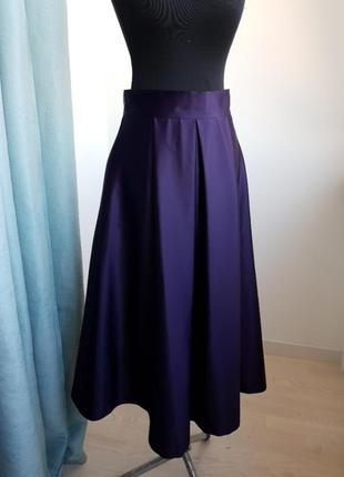 Нарядная юбка атласная