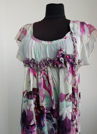 Прозрачное платье hand made