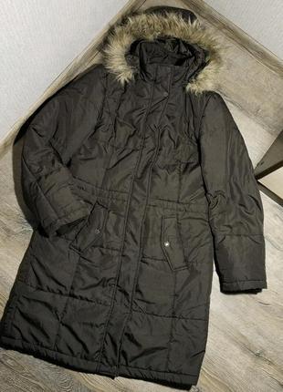Удлиненная куртка-пальто, цвета горький шоколад
