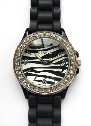 Geneva часы из сша зебровый циферблат мех.singapore sii