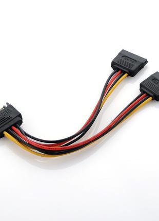 Переходник питания разветвитель сплиттер SATA to 2x (dual) SATA