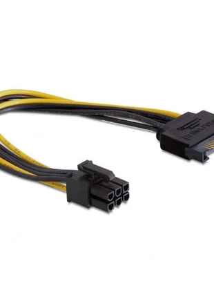 Переходник питания для видеокарт. SATA 15 pin to GPU 6 pin PCI-E