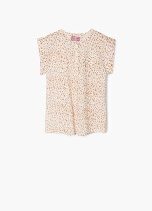 Легкая хлопковая блуза mango для девочек от 7 до 11 лет