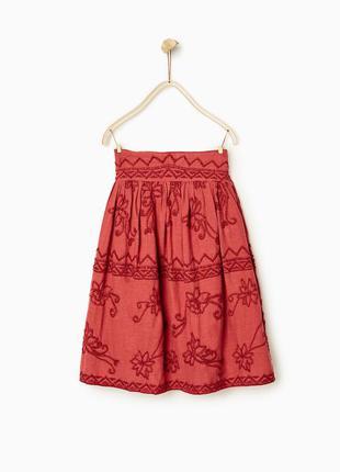 Шикарная хлопоковая юбка zara - 8лет и 9-10лет