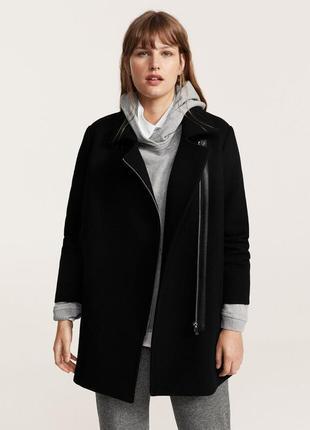 Стильное шерстяное пальто mango violeta плюс размер - s, m