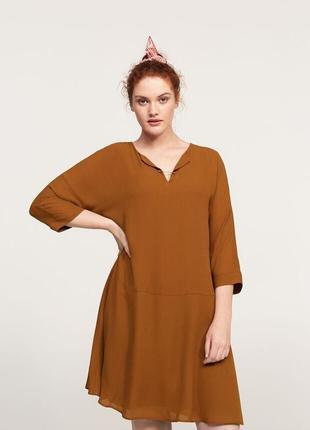 Струящееся платье с аппликацией mango violeta плюс размер - s, m