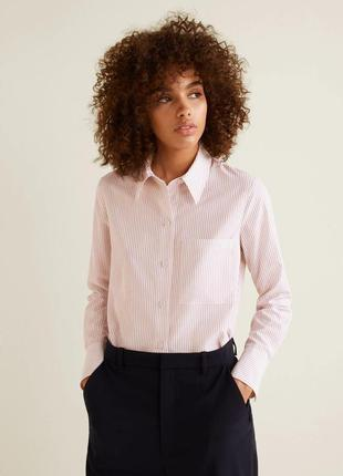Тонкая рубашка из модала в полоску mango -  m