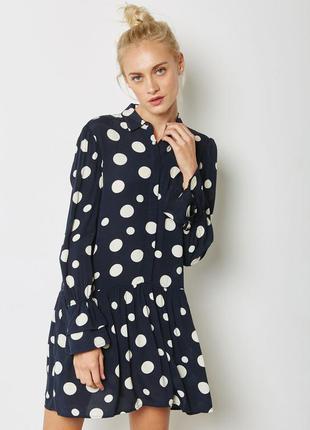 Платье - комбинезон в крупный горошек с жемчужными пуговицами ...