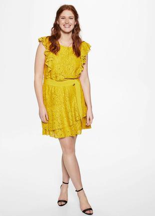 Кружевное платье mango violeta плюс размер - l