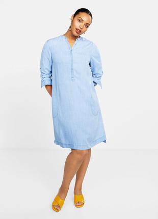 Легкое прямое джинсовое платье mango violeta плюс размер - 48-...