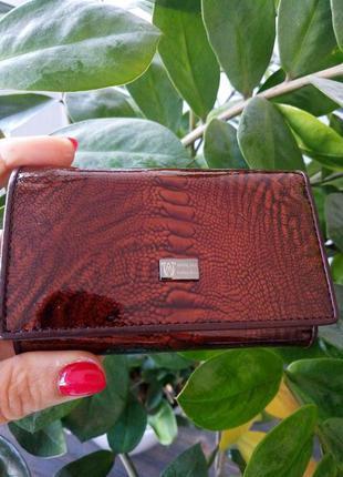 Ключница wanlima кожаная с зеркалом 2330792 коричневая