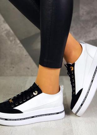 ❤ женские кроссовки кеды на высокой подошве ❤