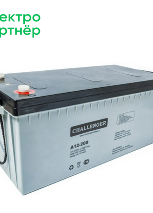 Аккумулятор AGM - 200 Ач, 12В гелевый Challenger A12-200